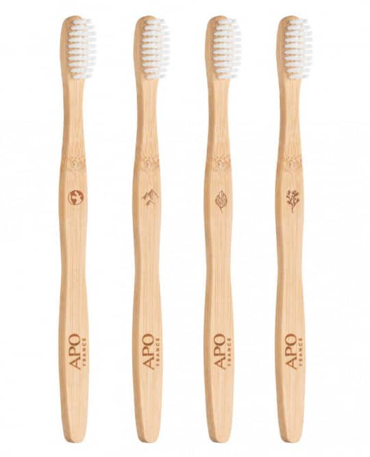 Brosses à dents en bambou écologique et vegan pour adulte